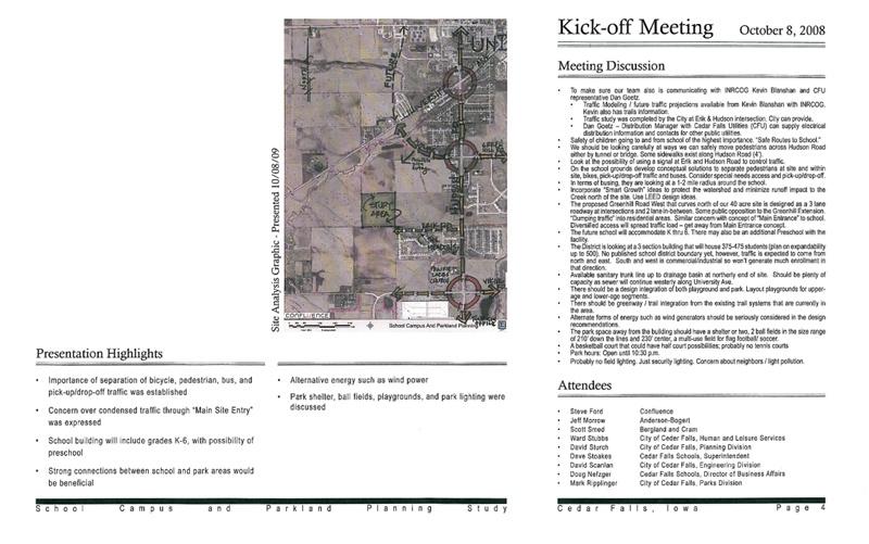 Cedar Falls Planning  Bergland + Cram