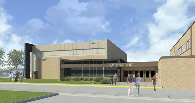 Image gallery high school gym exterior for Exterior design institute