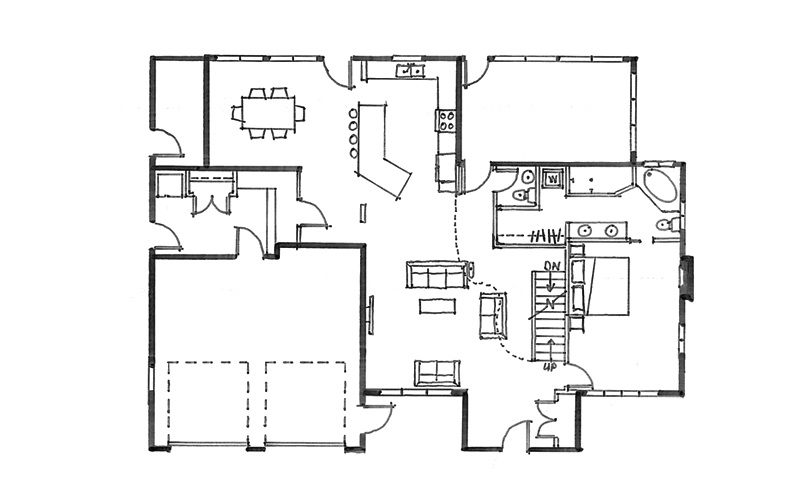 Quick consult residential architecture consulting firm for Floor plan sketch