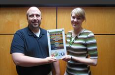 Interior designers Scott and Dana with the IIDA Gold Award